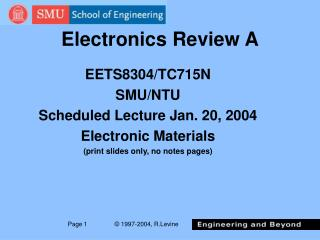 Electronics Review A