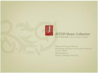 JSTOR Music Collection