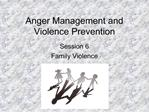 Anger Management and Violence Prevention