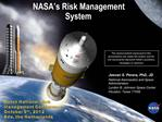 NASA s Risk Management System