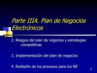 Parte IIIA. Plan de Negocios Electr nicos