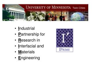 Industrial  Partnership for  Research in  Interfacial and  Materials  Engineering