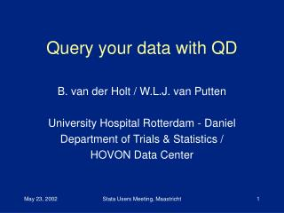 Query your data with QD