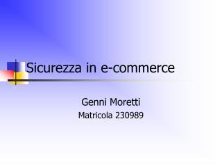 Sicurezza in e-commerce