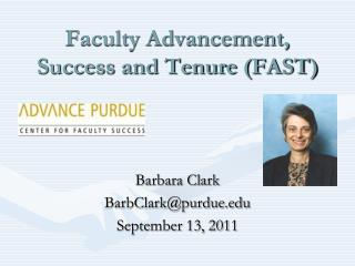Faculty Advancement, Success and Tenure FAST