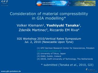 Consideration of material compressibility in GIA modelling