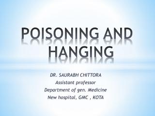 Corrosive Poisoning