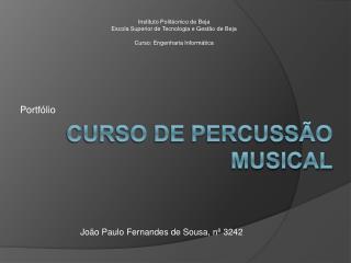 Curso de percuss o musical