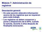 M dulo 7: Administraci n de registros