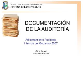 DOCUMENTACI N DE LA AUDITOR A