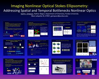 Imaging Nonlinear Optical Stokes Ellipsometry: Addressing Spatial and Temporal Bottlenecks Nonlinear Optics Garth J. Sim