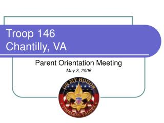 Troop 146 Chantilly, VA