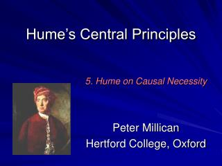 Hume s Central Principles