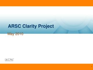 ARSC Clarity Project