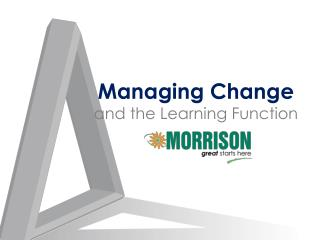 Managing Change and the Learning Function