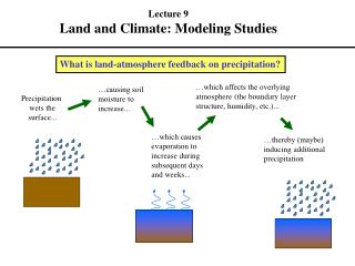 What is land-atmosphere feedback on precipitation
