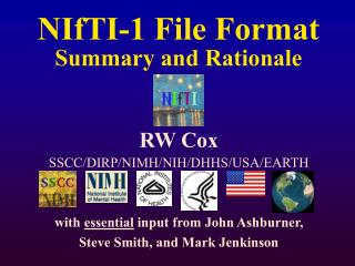 NIfTI-1 File Format Summary and Rationale