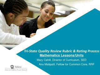 Tri-State Quality Review Rubric  Rating Process Mathematics Lessons
