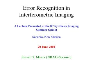 Error Recognition in Interferometric Imaging