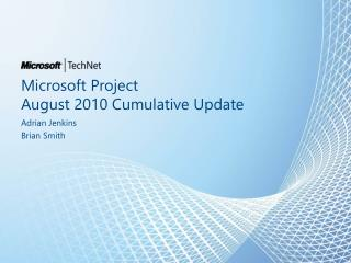 Microsoft Project  August 2010 Cumulative Update