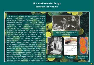 III.6. Anti-infective Drugs