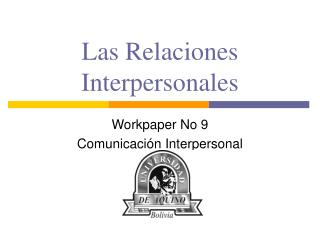 Las Relaciones Interpersonales