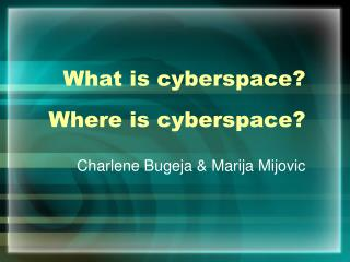 What is cyberspace  Where is cyberspace