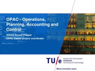 OPAC - Operations, Planning, Accounting and Control