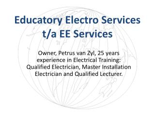 Educatory Electro Services t