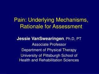 Pain: Underlying Mechanisms, Rationale for Assessment