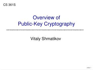 Overview of Public-Key Cryptography