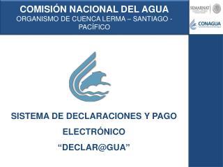 COMISI N NACIONAL DEL AGUA ORGANISMO DE CUENCA LERMA   SANTIAGO - PAC FICO