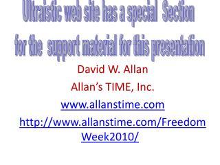 David W. Allan Allan s TIME, Inc. allanstime allanstime