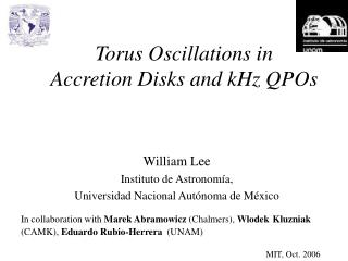 Torus Oscillations in  Accretion Disks and kHz QPOs