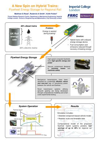 A New Spin on Hybrid Trains: Flywheel Energy Storage for Regional Rail