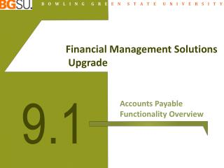 Financial Management Solutions  Upgrade