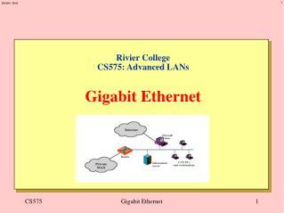 Rivier College CS575: Advanced LANs   Gigabit Ethernet