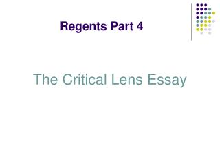 Regents Part 4