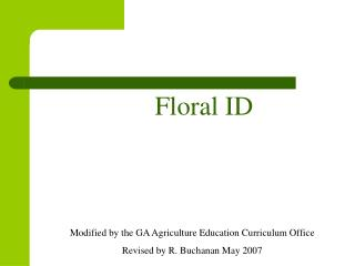 Floral ID