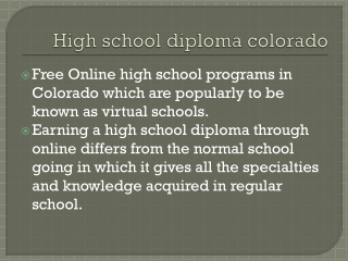 high school diploma colorado