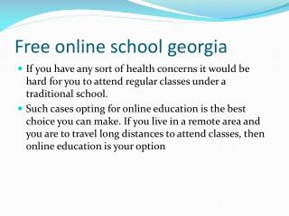 Online public school georgia