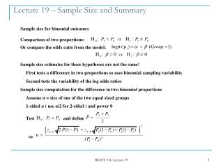 Lecture 19   Sample Size and Summary