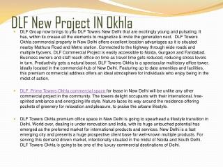 Dlf Prime Tower Okhla +Dlf New Office Space Okhla+Dlf Prime