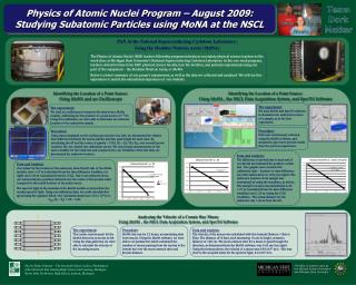 Physics of Atomic Nuclei Program   August 2009: Studying Subatomic Particles using MoNA at the NSCL