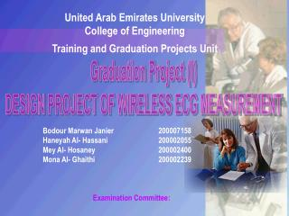 United Arab Emirates University College of Engineering Training and Graduation Projects Unit