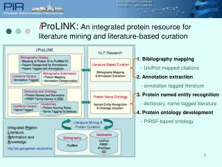 IProLINK: An integrated protein resource for literature mining and literature-based curation