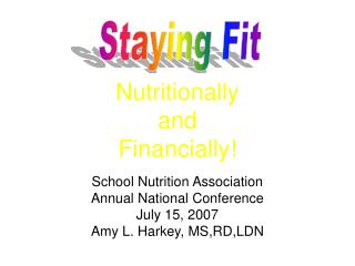 Nutritionally  and  Financially