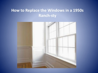 replace a window in 1950