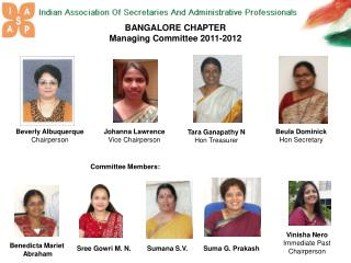 BANGALORE CHAPTER Managing Committee 2011-2012
