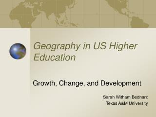 Geography in US Higher Education